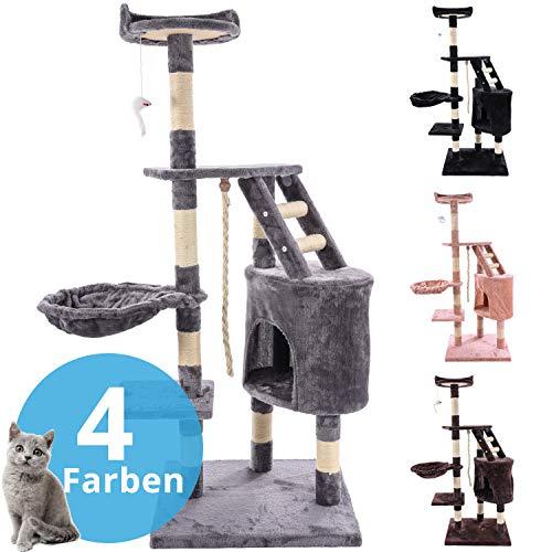 Panorama24 Kratzbaum Katzenbaum, Modell Findus Beige, Katzenkratzbaum Katzenmöbel mit Sisal-Seil Plüsch Liege höhlen Spielhaus Spielzeug für Katzen - Farben wählbar