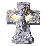 Gaeirt Adornos De ángel Que Brillan Intensamente, Estatua De ángel Inodoro con Luz para Decoración De Escritorio (SCS-RC083-B)