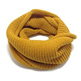 HappyTree Kids Hot Fashion Thick Knitted Winter Warm Infinity Scarf Yellow