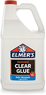 Elmer's Liquid School Glue, Clear, Washable, 1 Gallon - Great for Making Slime