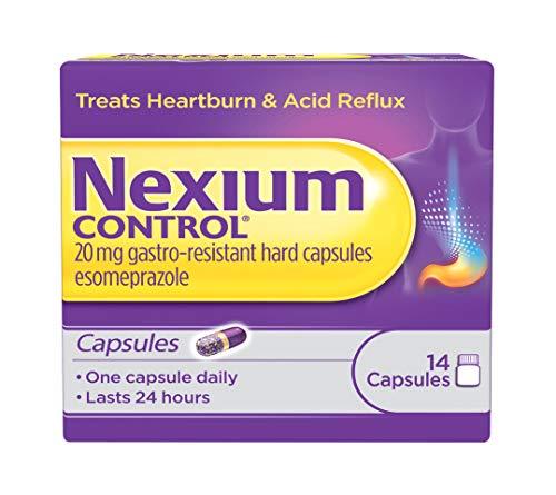 Nexium Control Heartburn and Acid Reflux Relief Capsules, 20mg Gastro-Resistant Esomeprazole Capsules, 14 Count
