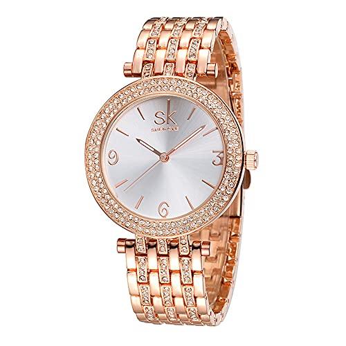 YIBOKANG Señoras Delicadas Moda Luz Lujo Simple 30M Banda De Acero Impermeable Reloj De Cuarzo Personalidad Simple Regalo De Cumpleaños Reloj De Moda