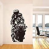hllhpc Sticker Mural Mural VR Le Docteur Moteur Course Sticker Mural Enfants Chambre Moto Course Sport Salon Décor57 * 110 cm