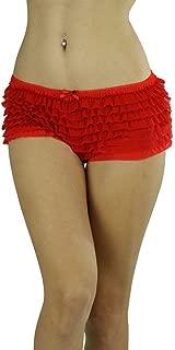 Women's Soft Chiffon Ruffle Trim Cheeky Panties Boyshort