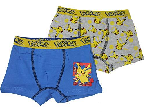 Sun City Pokemon 2er Pack Jungen Boxershorts Unterhose Shorts (98)