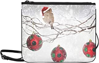 Winter Globes Snow Holy Time Polka Bird Day Dots R Pattern Custom High-grade Nylon Slim Clutch Bag Cross-body Bag Shoulder Bag