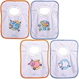 Dreambaby Terry Cloth Pullover Baby Bibs - Super Absorbent for Feeding and Drooling Toddlers - Farm Animals , 4 Count