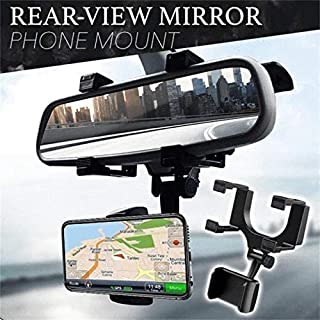 CQLEK® Rugged Car Rear View Mirror Mount Stand - Anti Shake Fall Prevention   360 Degree Rotation   with Anti-Vibration Pa...