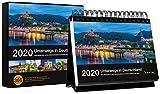 Tischkalender Unterwegs in Deutschland 2020: 366-Tage Spiralaufsteller in Geschenkbox -