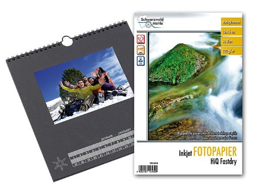 Your Design Fotokalender: Foto-Bastelkalender, schwarz, 23 x 24 cm inkl. Fotopapier (Fotokalender Druck Sets)
