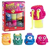Chefslime, 4 Monster 2 Slime Packs, Fluffy And Stretchy Slime Putty, Non Sticky, Stress Relief, Super Soft Slodge Toy