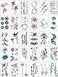 30 unids/set 6 x 10.5 cm tatuajes adhesivos resistentes al agua temporales sin repetición tatuajes para mujeres Sexy brazo clavícula arte corporal mano pie para chica hombres E