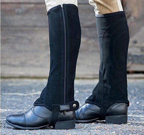Dublin Easy-Care Half Chaps II Adults, Horseback Riding Protective Gear, Black, X-Large