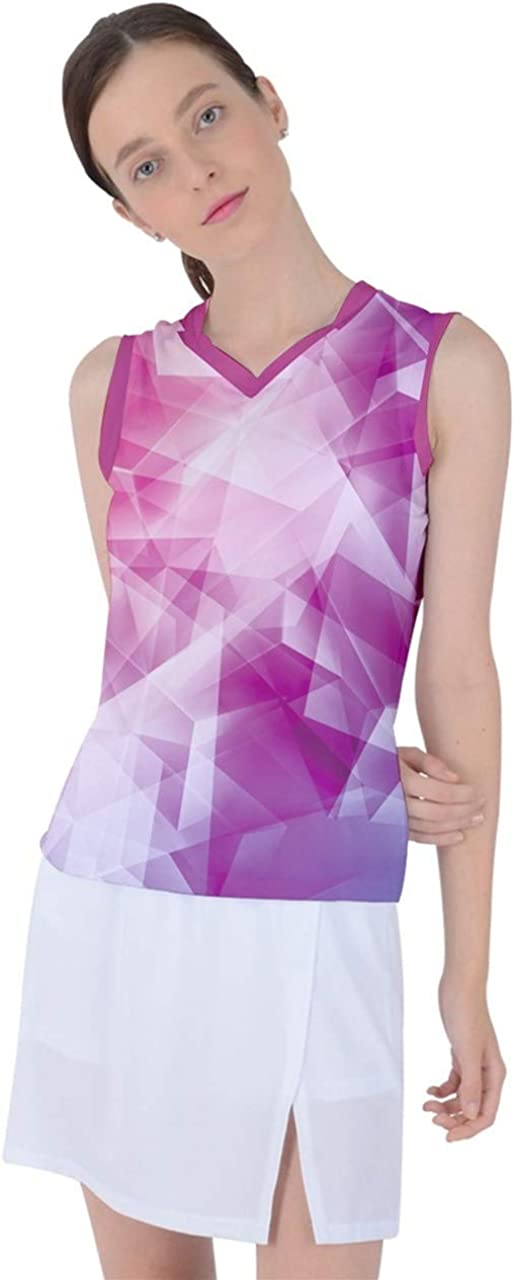 CowCow Womens Athletic Performance Workout Shirt Retro Geometric Triangle Abstract Tie Dye Sleeveless Sports Top