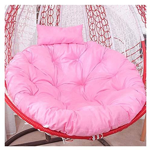 HLZY Cojines de exterior para sillas de patio, columpio, cesta de asiento con forma de huevo, almohadillas para silla con apoyabrazos para exteriores/interiores de jardín, patio, muebles (color: rosa)