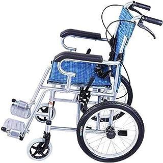 CLJ-LJ 車椅子スチール車椅子、子供、高齢者や障碍者のための適切な膨張しポータブルタイヤ、および折り畳み式、ブルー、Fourbrakeデザイン、とアテンダント推進車いす
