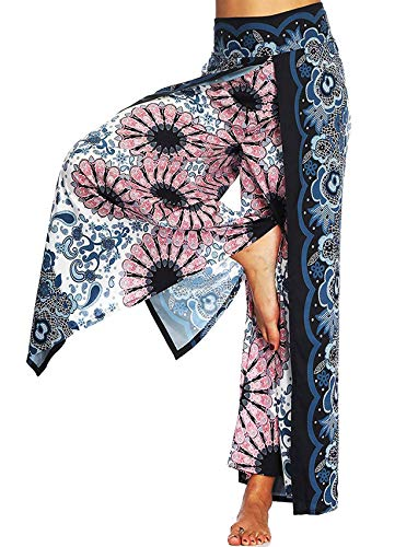 Seasum Women S Boho Harem Pants Hippie Clothes Palazzo Casual Loose Yoga Outfits High Waisted Unisex S M Mel S Geeky Shop