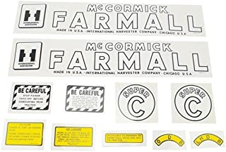 All States Ag Parts Mylar Decal Set - Farmall & Super C International Super C