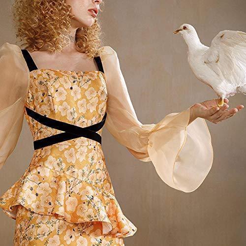 Fnho Disfraces Medievales Princesa Reina,Disfraz Medieval de Mujer Vestido,Vestido de Palacio Vintage, Vestido de Jacquard Fino-8 / M