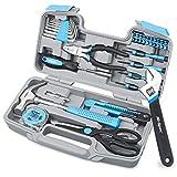 El juego de herramientas de bricolaje Hi-Spec para el hogar de 40 piezas en color azul viene en un estuche de transporte compacto.