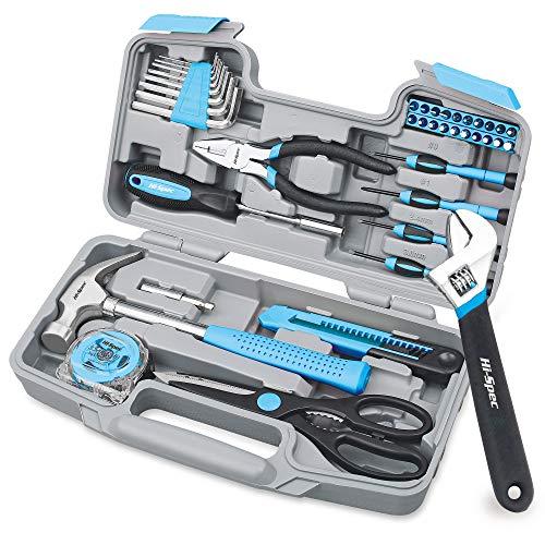 Hi-Spec 40-teiliges Werkzeug Set mit Schwarz Blauen Werkzeugen im praktische Aufbewahrungskoffer, handlich und gut zu verstauen, mit den gebräuchlichsten Werkzeugen