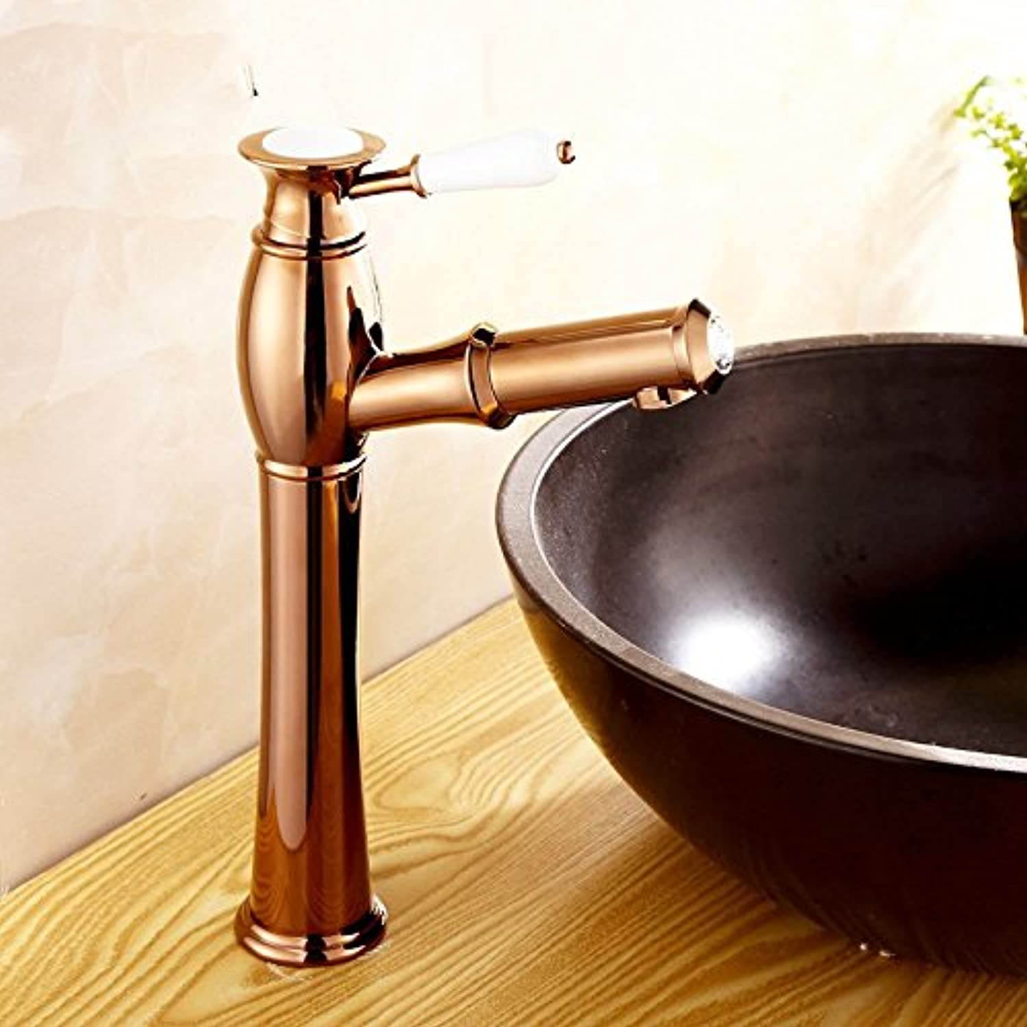 LHbox Basin Mixer Tap Bathroom Sink Faucet Continental gold pull-down faucet hot and cold antique pull-down basin faucet, D.