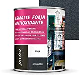 ESMALTE FORJA ANTIOXIDANTE, proteccion y decoracion sobre acero. (750ML- 1,3 Kilos, GRIS)