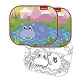 Fisher-Price Fp10172 Autofenster Sonnenschirm (2 Stück) Nilpferd Designs, Mehrfarbig - Elemed