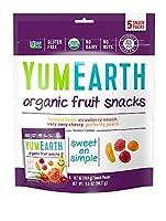 YumEarth オーガニックフルーツスナック 5袋 各0.7 oz (19.8 g)[海外直送品]
