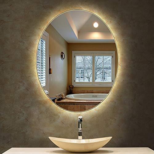 Bathroom Mirror Led Illuminated Lighted Makeup Vanity Cosmetic Wall Mounted Light Home Bedroom Hallway Anti Fog Vertical