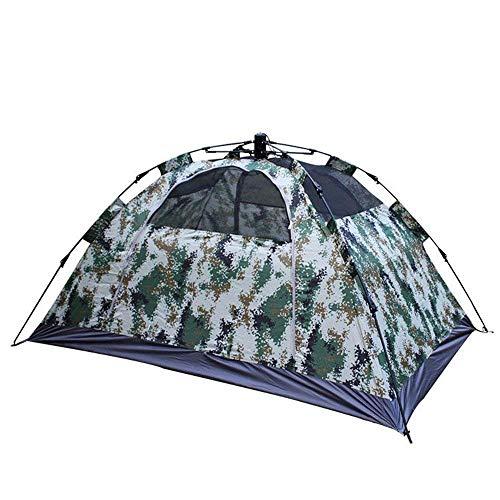 1yess Doble Persona Camping Tienda 4 Temporada Mochilero Tienda Automática Instantánea Pop Tienda para Deportes al Aire Libre con Camuflaje