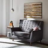 Amazon Brand – Rivet Modern Geometric Wool Area Rug, 8 x 10 Foot, Blue