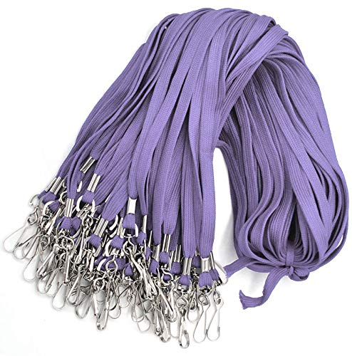 Bulk Lanyard 32' Flat Lanyards with Swivel Hook Attachment Lanyards with Clip (Light Lavender)