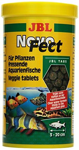 JBL NovoFect 30249 Alleinfutter für pflanzenfressende Aquarienfische, Tabletten 1 l