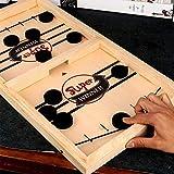 YUDIAN Fast Sling Puck Game Paced,Tinfence Table Desktop Battle,Winner Juegos de Mesa Juguetes para Adultos Juego de Mesa de Ajedrez Interactivo para Padres e Hijos (22,7 X 12,5 Pulgadas)