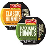 Ready to Eat Classic & Black Olives Hummus Shelf Stable & Gluten Free - Pack of 2 (100gm Each)