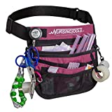 KangaPak Nursing Organizer Belt - New Microfiber Design - 9 Pocket Utility Pouch for Stethoscopes, Scissors and Other Medical Supplies (Purple Haze)