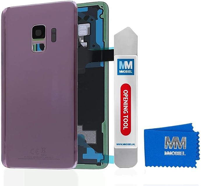 MMOBIEL Tapa Bateria/Carcasa Trasera con Lente de Cámara Compatible con Samsung S9 G960 5.8 Pulg. (Lila Morado)