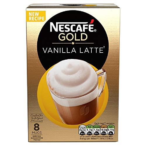 Nescaf? Cafe Menu Vanilla Flavour 8 Sachets 148 g (Pack of 6, Total 48 Sachets)