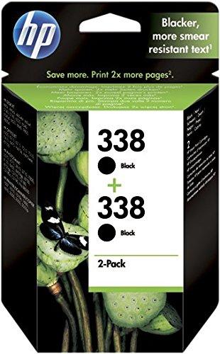 HP CB331EE Combo Pack da 2 Cartucce 338 Originali per Stampanti a Getto di Inchiostro Officejet 6210, 7110, 7410xi, Photosmart 2710, 8150, 8450gp, 8750, PSC 2355 Serie, Nero