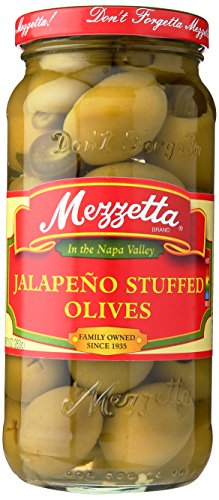 Glass Mezzetta Olive, Stuffed Jalapeno, 10-Ounce