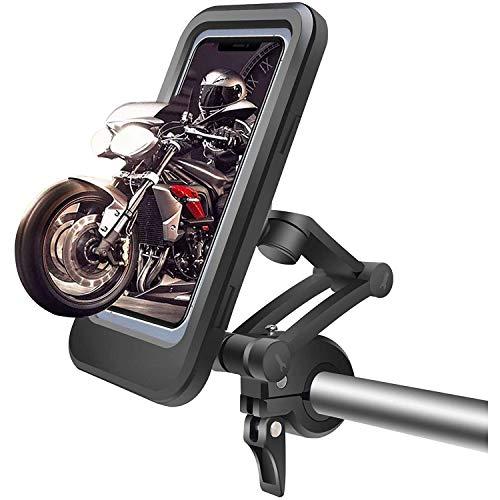 AMOYEE Montaje del teléfono de la bicicleta, soporte de teléfono celular impermeable a prueba de agua Anti-Shake for manillar de bicicleta de motocicleta GPS compatible con todos los teléfonos intelig