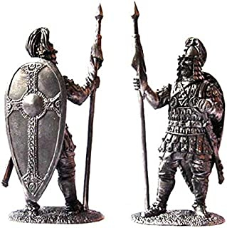 Military-historical miniatures Byzantine warrior 8-9 century Tin Metal 54mm Action Figures Toy Soldiers Size 1/32 Scale for Home Décor Accents Collectible Figurines ITEM #P19