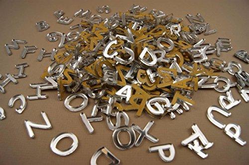 WoMa Kreativ 250+ Plexiglas kleine Buchstaben (1cm) Alphabet Dekoration Selbstklebend (NF19)