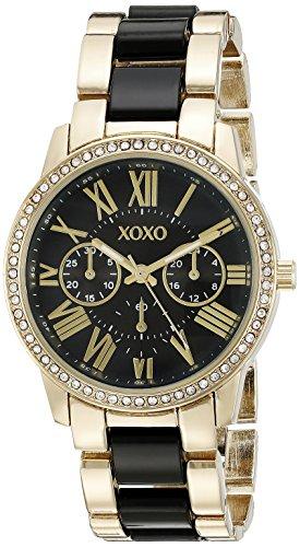 XOXO XO5874 - Reloj de brazalete para mujer, tono dorado y negro