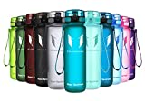 Super Sparrow Sports Water Bottle - 1000ml - Non-Toxic BPA Free & Eco-Friendly Tritan Co-Polyester Plastic - Fast Water Flow, Flip Top, Opens With 1-Click