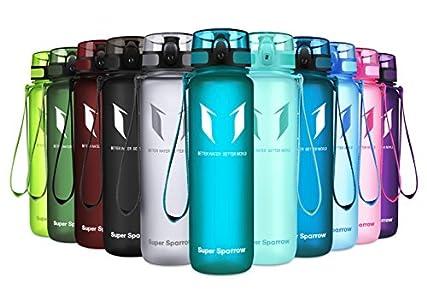 Super Sparrow Botella de Agua Deportiva -350ml & 500ml & 1000ml - Sin BPA
