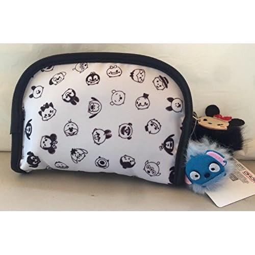 af1f9e4fd8d0 Amazon.com  London Soho New York Disney Tsum Tsum Cosmetic Bag White -  Small  Health   Personal Care