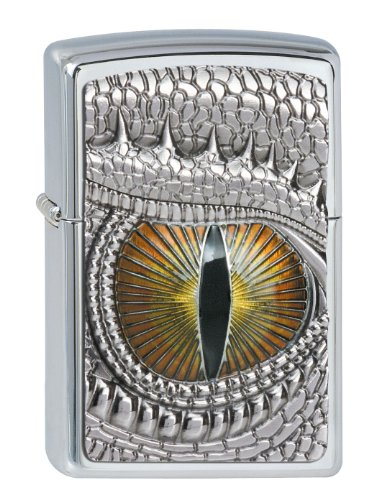 Zippo Zippo Feuerzeug 2002539 Dragon Eye Emblem Benzinfeuerzeug, Messing Chrome