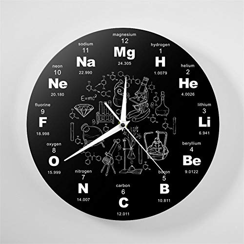 L'horloge murale à symboles chimiques